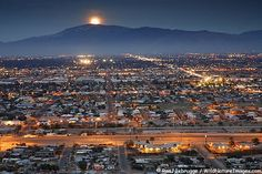 Moonrise over the Rincons, Tucson, Arizona. I lived in Tucson 1997-2001. It was my sweetie's home town. After he died, I moved back east... everywhere I looked in Tucson, I was reminded of him, and it broke my heart.