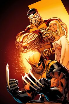 Colossus, Emma Frost, & Wolverine