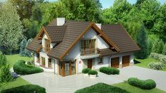 Village House Design, Bungalow House Design, Village Houses, Modern House Design, Beautiful House Images, Beautiful Small Homes, House In The Woods, My House, Home Exterior Makeover