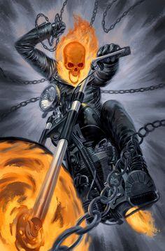 "redskullspage: ""Ghost Rider by Julian Totino Tedesco """