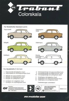Trabant colour scheme - clearly a model year when the turquoise went missing!