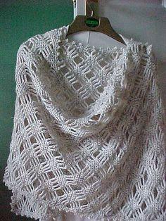 Lattice Lace Wrap By Caron International Yarns - Free Crochet Pattern - (ravelry) ༺✿ƬⱤღ  http://www.pinterest.com/teretegui/✿༻