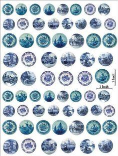 Miniature Printables - Dutch Blue Plates - VAJILLA - cloe Serrato - Picasa Web Albums