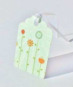 Pack of 6 Large Handmade Gift Tags  Spring Flower by CardsbyGaynor, £2.95