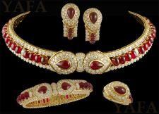 GRAFF Gold Diamond and Burma Rubies Suite Necklace