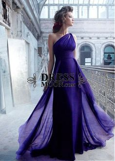 I like this - Sheath One Shoulder Sweep Train Length Long Chiffon Bridesmaid Dress. Do you think I should buy it?