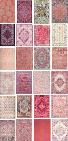 Colorful bohemian rugs