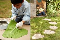 Step by step DIY leaves tiles | 1001 Gardens