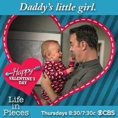 Valentine's Day Cards From Your Favorite TV Stars Valentine Day Cards, Happy Valentines Day, Life In Pieces, Daddys Little Girls, Stars, Tv, Valentine Ecards, Television Set, Sterne