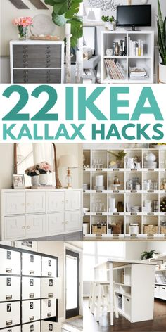 Best IKEA hacks 2019 and IKEA kallax hack for tv stand. Find out how to stack kallax and kallax bookshelf room divider ideas. Best cheap DIY home decor projects 2019 using IKEA furniture. furniture cheap 21 IKEA Kallax Hacks That You Need In Your Home Now Hacks Ikea, Ikea Hack Storage, Ikea Kallax Hack, Ikea Furniture Hacks, Diy Hacks, Kallax Desk, Ikea Hack Bench, Ikea Bookshelf Hack, Ikea Furniture Makeover