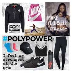 """""""What's Your Power Outfit? Contest"""" by juliamella ❤ liked on Polyvore featuring NIKE"""