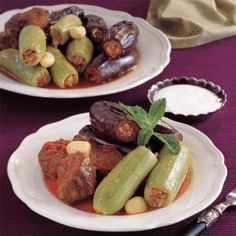 Stuffed Baby Zucchini and Eggplant with Beef Shanks (EGYPT)