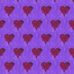 Valentine Hearts Fuchsia fabric by captiveinflorida on Spoonflower - custom fabric