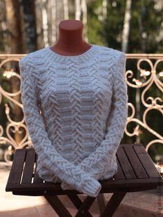 """Кофты и свитера ручной работы. Ярмарка Мастеров - ручная работа Белый пуловер """"Уютный"""". Handmade."""