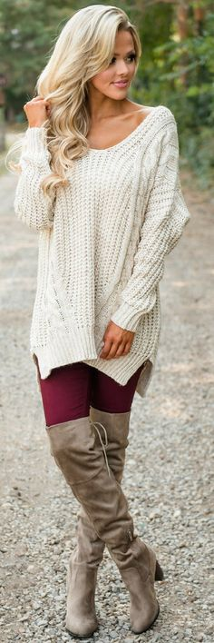 So Smitten Knit Sweater Tunic - Fall Outfit Idea by Angelia Layton