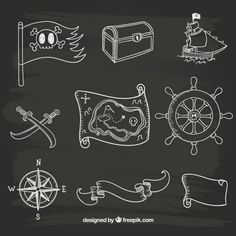Pirate Vectors, Photos and PSD files Vector Hand, Vector Free, Kandinsky, Party Logo, Vector Photo, Pirate Party, Pirates, Sailor, How To Draw Hands