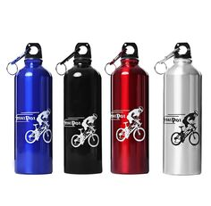 750ML Portable Aluminum metal Water bottle with keychain for Cycling my botle bootle bootl my bote botella aluminio para agua