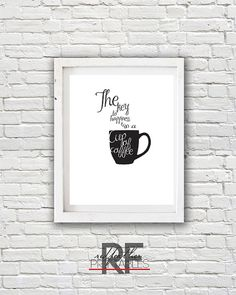 Funny coffee quote 8x10 digital art print, printable, instant download