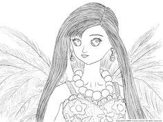 天使のティモテの下絵~ジェニーのぬりえ