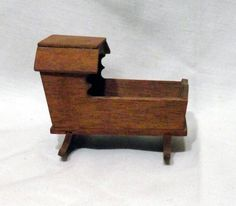 Vintage Miniature Wooden Doll House Baby by RetroVintageBazaar, $6.00