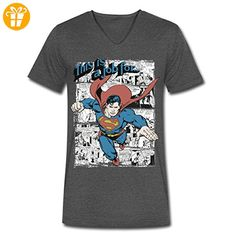 DC Comics Originals Job For Superman Spruch Männer T-Shirt mit V-Ausschnitt von Spreadshirt®, XL, Anthrazit - Shirts mit spruch (*Partner-Link)