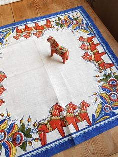 Excited to share the latest addition to my #etsy shop: Handprinted tablecloth with Dala horses in offwhite linen from Sweden #square #linen #printed #tablecloth #swedishdesign #printedtablecloth #Dalahorses #horses #printed horses # http://etsy.me/2CzKXGe