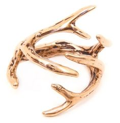 DEER ANTLER RING. i love the idea of this... but how does it go on your finger?