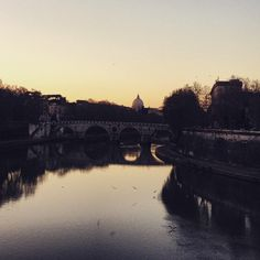 Ponte Sisto at Sunset. Photo by K. Johnson (via instagram) 2015.