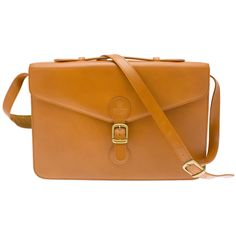 Ettinger London Luxury Leather Metropolitan Dark Tan Jubilee Satchel