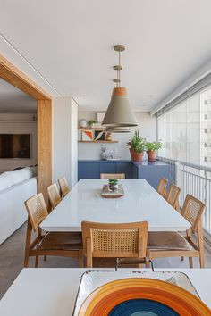 Small Apartment Interior, Flat Interior, Home Interior Design, Minimalist Dining Room, Dinner Room, Dining Room Design, Home Office Decor, Decoration, Sweet Home