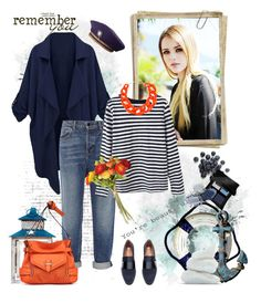 """Striped print"" by murenochek ❤ liked on Polyvore featuring H&M, Alexander Wang, DIANA BROUSSARD, Jessica Simpson, Illamasqua and OKA"