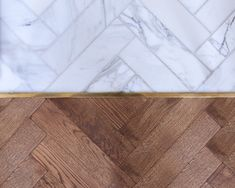 Master Bedroom Suite Pairs Wood and Marble photos) Herringbone Marble Floor, Marble Wood, Floor Design, Tile Design, Tile To Wood Transition, Victorian Townhouse, Victorian House, Bedroom Closet Design, Master Bedroom
