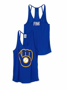 3963756b738e2e Milwaukee Brewers Strappy Racerback Tank PINK.....just got this in the