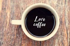 Write word love coffee by ptystockphoto on @creativemarket