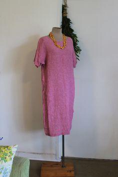 Tee Dress, Dress Red, Orange Jumpers, Crinkles, Linen Fabric, Scoop Neck, Shoulder Dress, Minimalist, Short Sleeve Dresses