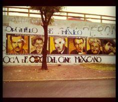 Mural de La Epoca de Oro del Cine Mexicano! (periférico y tlalpan)