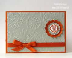 Lovely Lace thank you | Sara's crafting and stamping studio