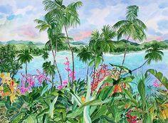 Heavens Earth watercolor