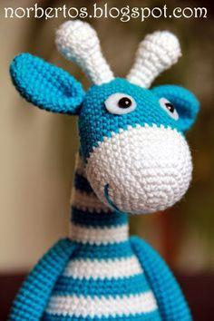 Crochet striped giraffe