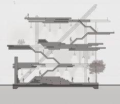 Tecnoparc, Reus, Spain by Alonso Balaguer y Arquitectos Asociados - architektur Architecture Concept Drawings, Architecture Visualization, Concept Architecture, Architecture Details, Sections Architecture, Computer Architecture, Gothic Architecture, House Architecture, Hospital Design