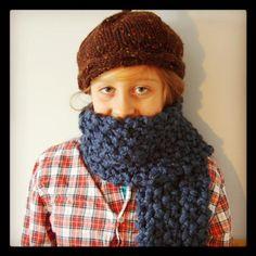Chunky scarf - free pattern @craftsy size 17 needles