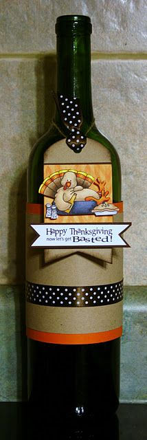 Paper Perfect Designs: Whimsie Doodles Challenge - Tag, You're it! Wine Bottle Tags, Wine Tags, Secret Pal Gifts, Autumn Crafts, Thanksgiving Cards, Fall Cards, Hostess Gifts, Cool Gifts, Teacher Gifts