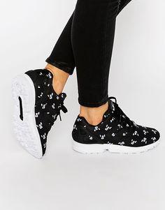 adidas Originals x Rita Ora French Bull Dog Print ZX Flux Sneakers