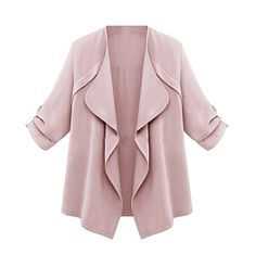 e6ae0d1f805 LASPERAL 2018 Autumn Fashion Ruffles Jackets Women Overcoats Cardigans  Coats Female Solid Asymmetric Basic Jackets Plus Size