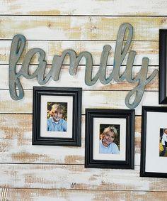 Unfinished Oversize 'Family' Decor #zulily #zulilyfinds
