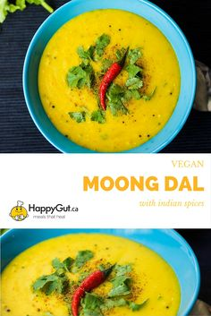 Indian Moong Dal by happygut.ca  made with yellow lentils and indian spices…
