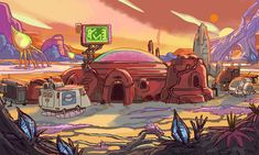 Carol Wyatt Rick and Morty Background Drawing, Cartoon Background, Animation Background, Rick And Morty, Character Drawing, Character Design, Animation Character, Adventure Time Background, Sci Fi Characters