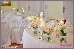 dekoracje stołu młodej pary