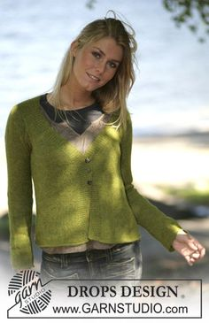 "Free pattern: DROPS Tailored cardigan knitted in ""Alpaca"