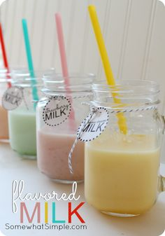 flavored milk - make milk any flavor you want, it's way easier than you think!